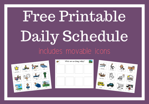 image about Printable Visual Schedule Pictures known as Newborn Visible Timetable with Movable Icons (Absolutely free Printable