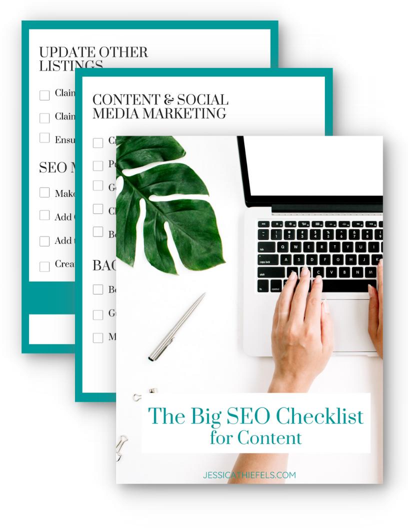 Downloadable SEO-Checklist for Content
