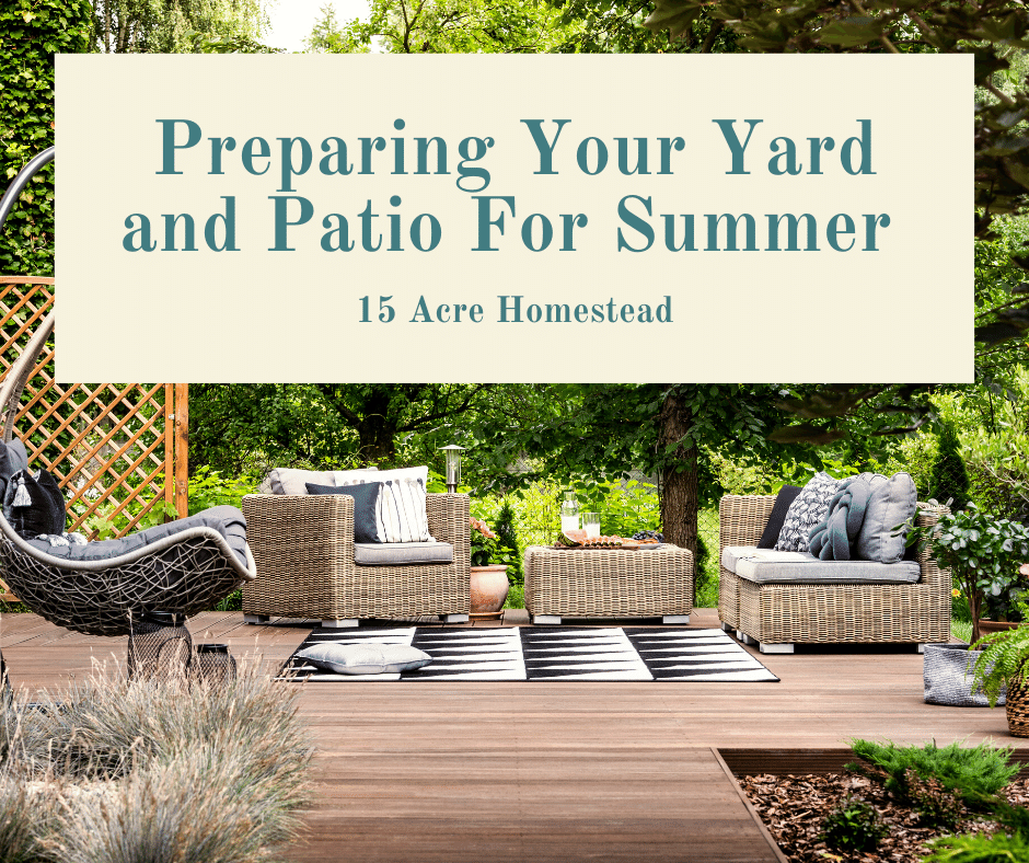 Preparing Your Yard and Patio Ready For Summer