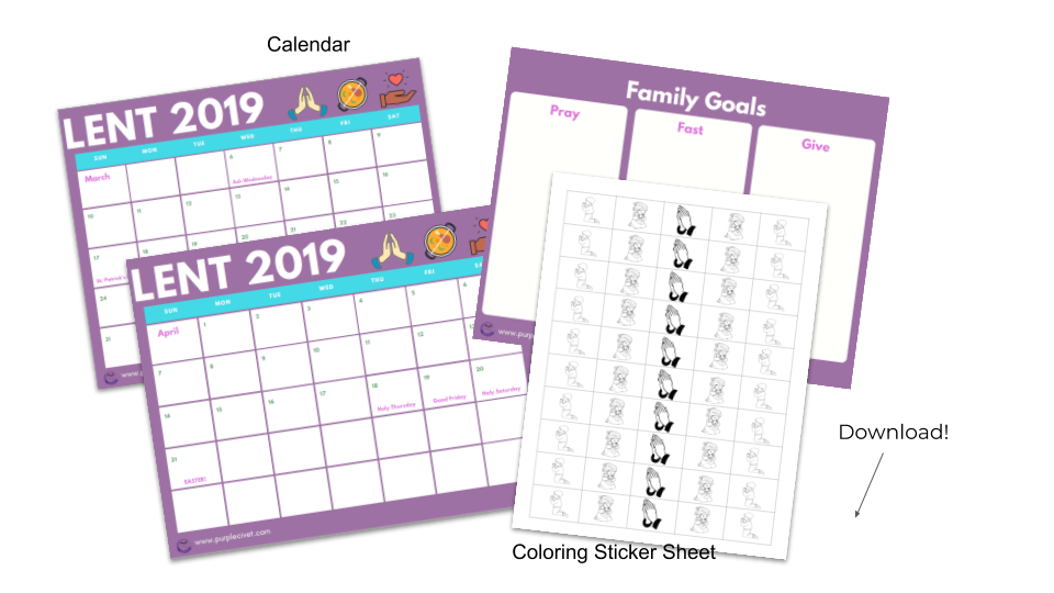 Creating Family Goals for Lent (and a free printable