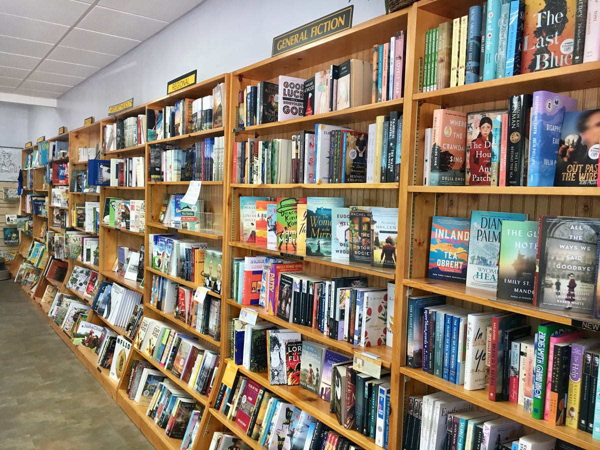 pic of bookstore shelves