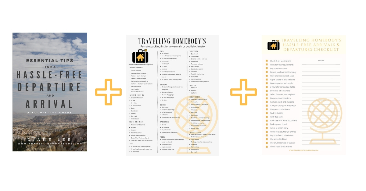 Travelling Homebody - travel guide + checklists