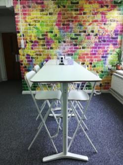 Breakfast bar and standing desk