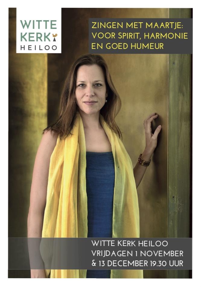 Flyer 'Zingen met Maartje' Witte Kerk Heiloo