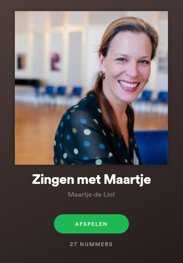 Foto van Spotify 'Zingen met Maartje'
