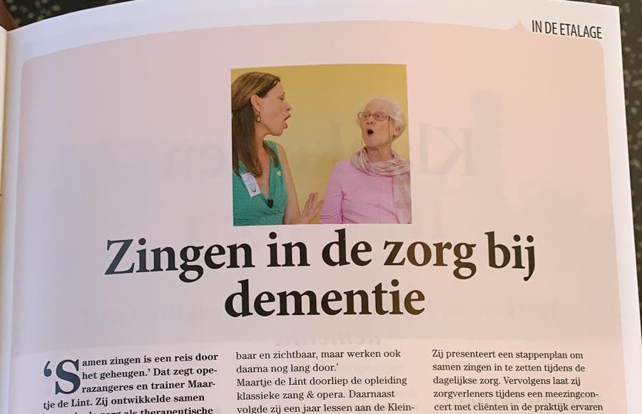 Foto 'Kop van artikel Denkbeeld: Zingen in de zorg bij dementie