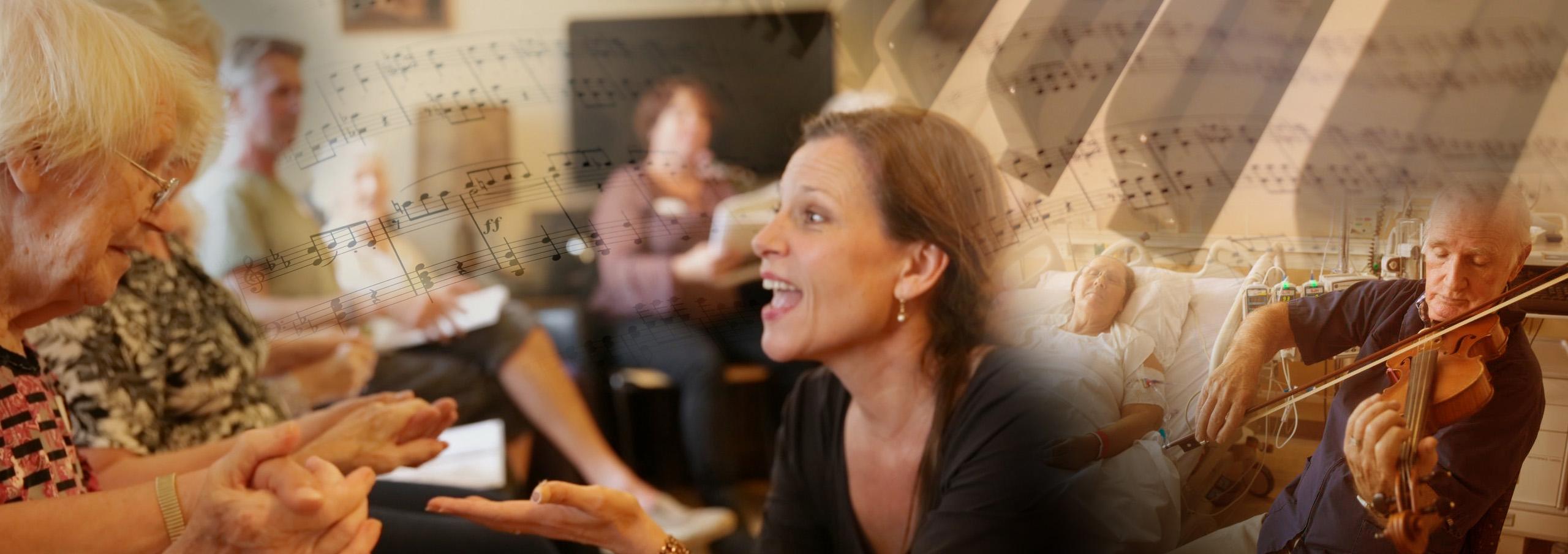 Foto van website 'Muziek als Medicijn'