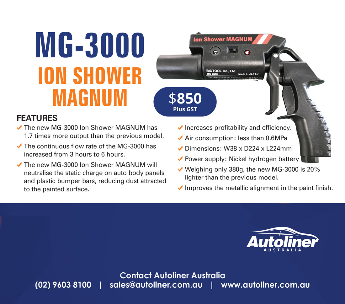 Neutralise static charge with the MG-3000 Ion Shower Magnum!