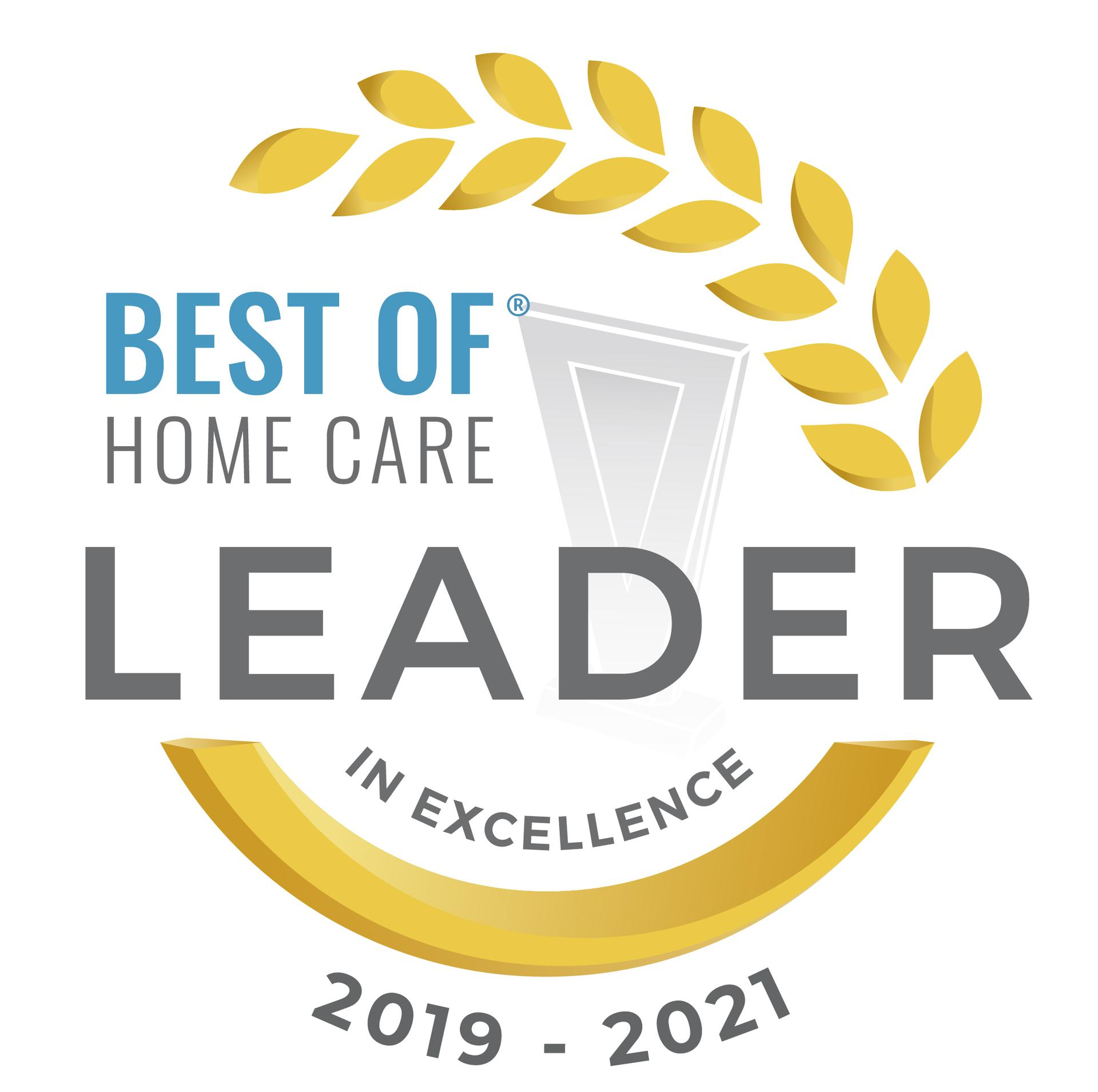 best of home care leader in excellence 2021