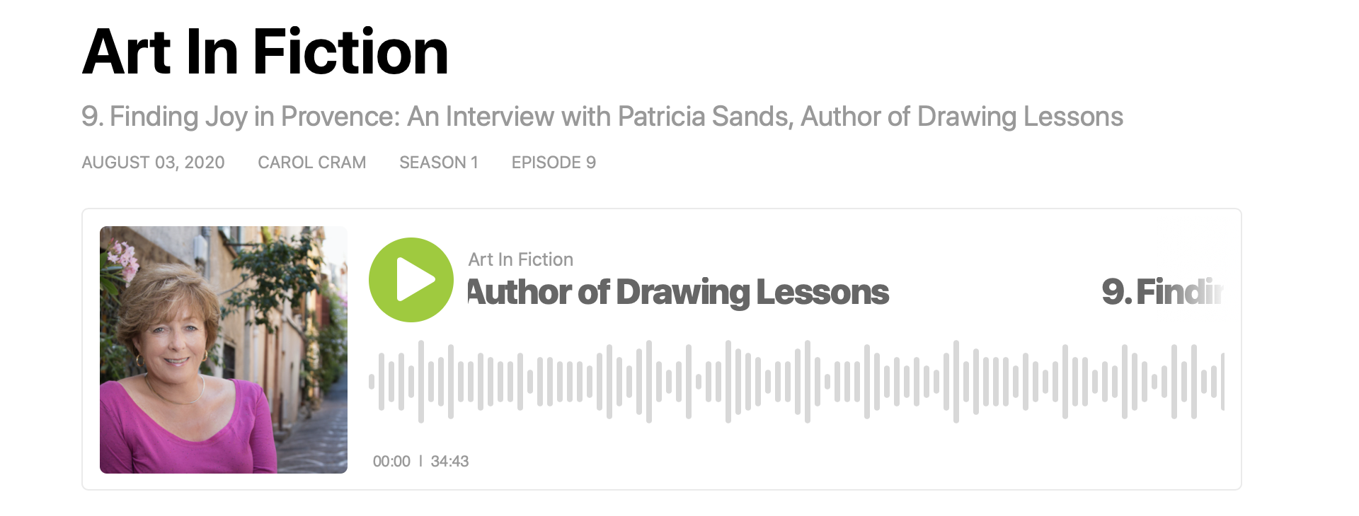 Podcast - Patricia Sands