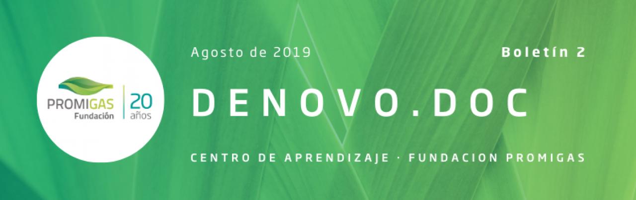 Boletín DeNovo.Doc - Centro de Aprendizaje de la Fundación Promigas