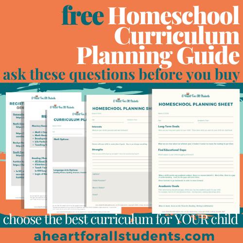 homeschool curriculum planning guide