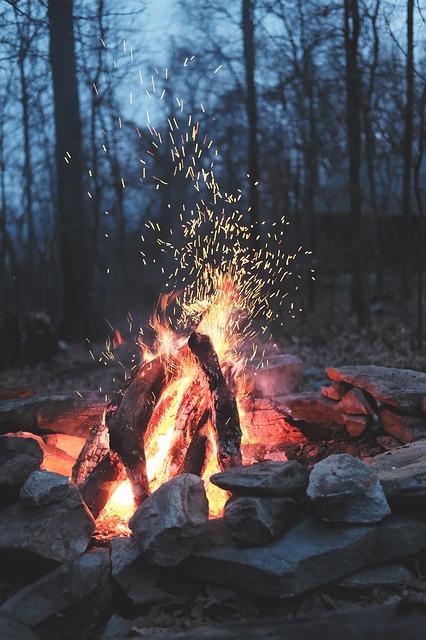 Winter Solstice Bonfire, Natural Fire