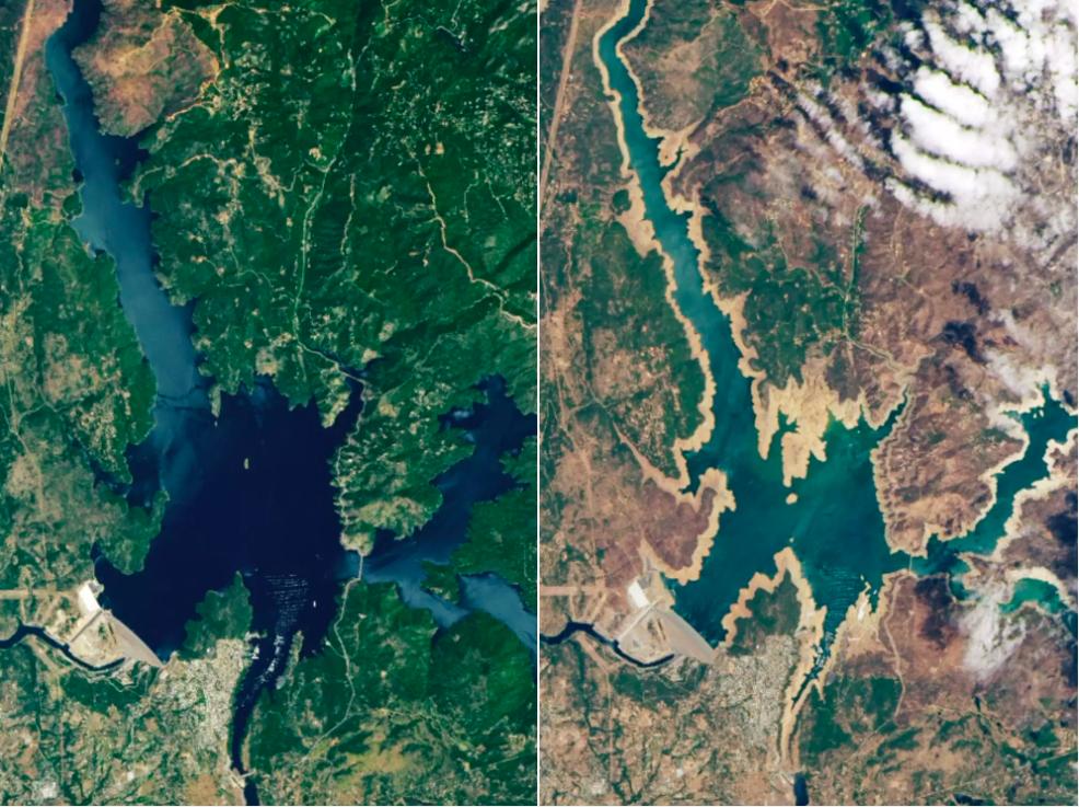 Satellite image of Californian drought