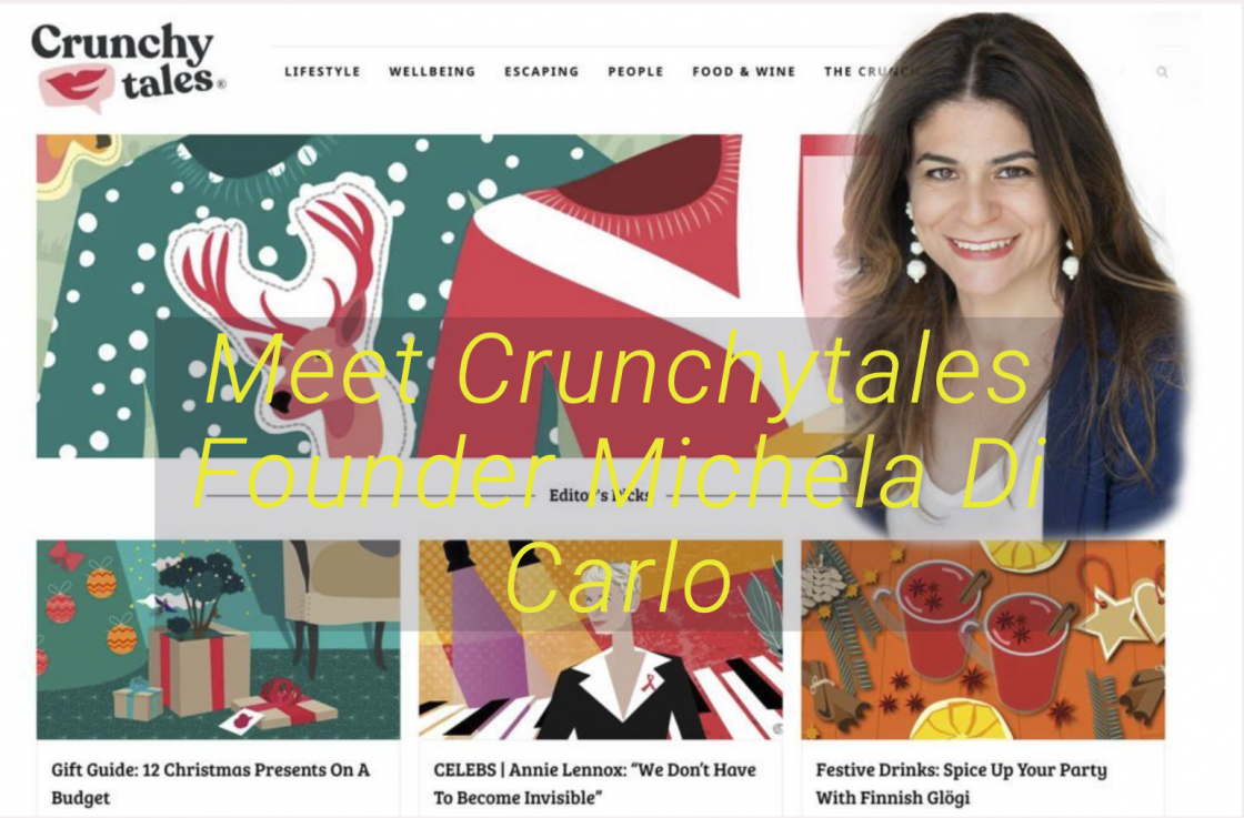 Image of Crunchtales.com home page with superimposed picture of founder Michale Di Carlo