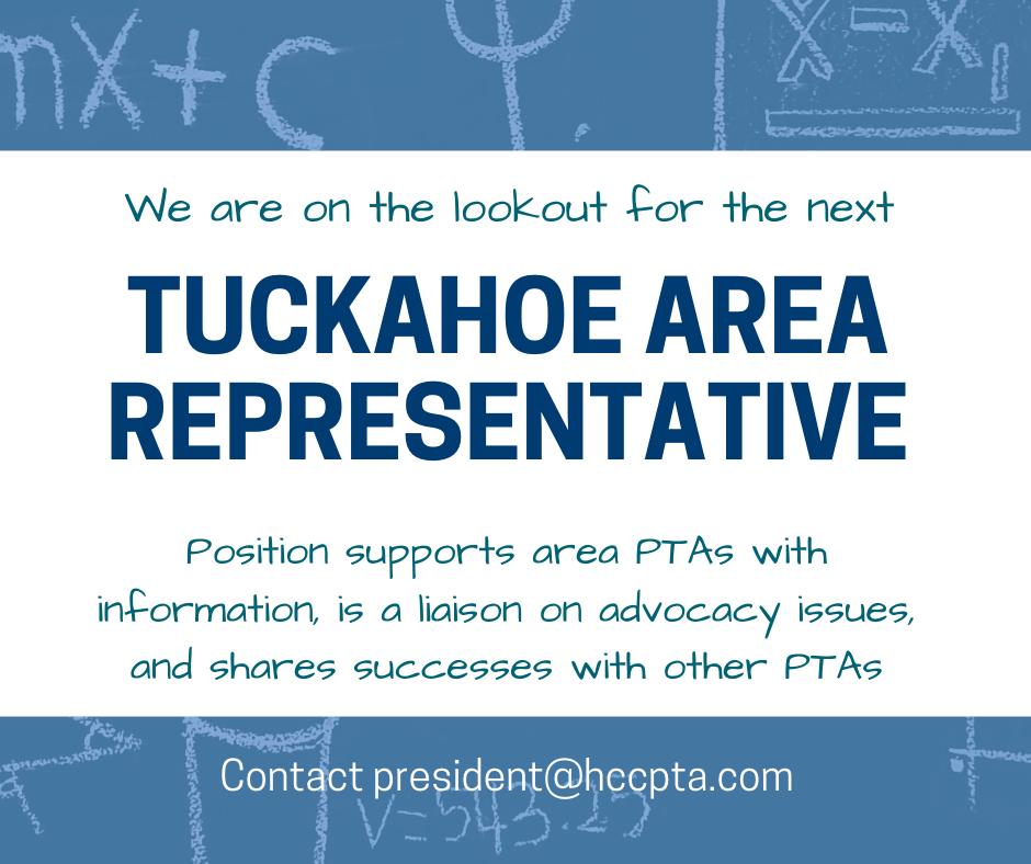 Tuckahoe Area Representative Wanted