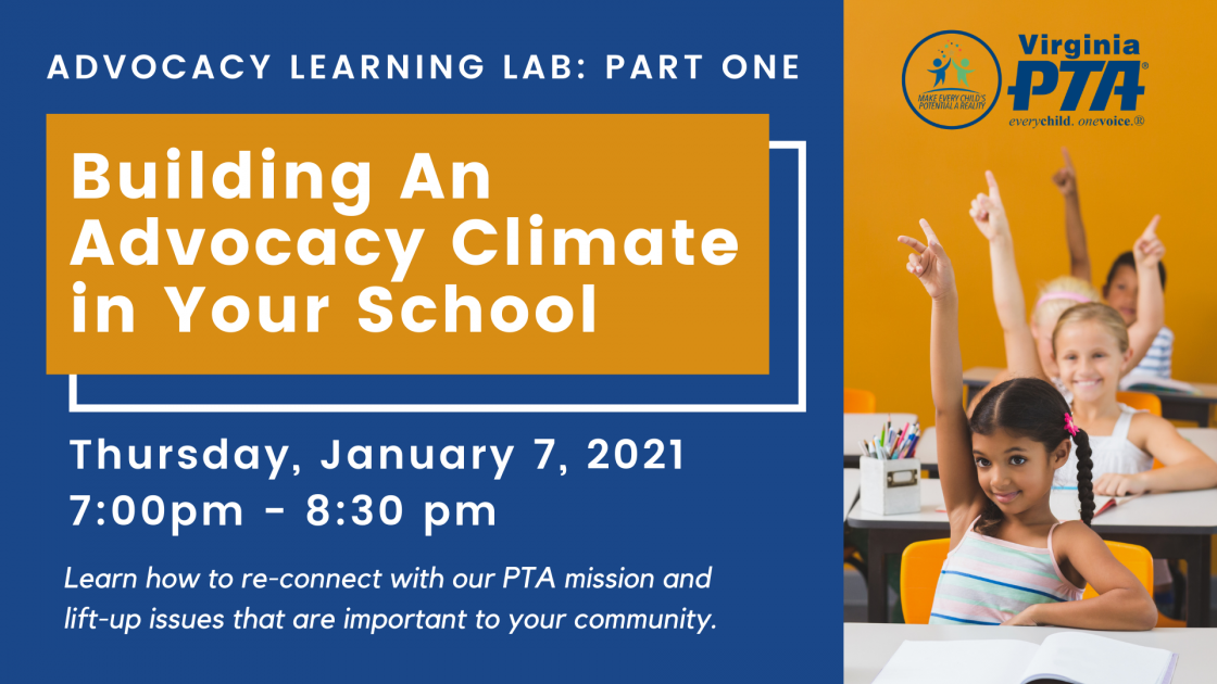 Building an Advocacy Climate in Your School. Jan 7, 2021 @ 7:00-8:30 PM
