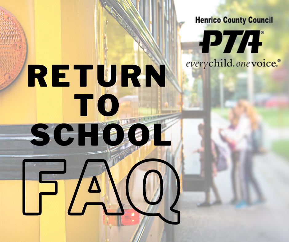 HCC PTA Return to School FAQ