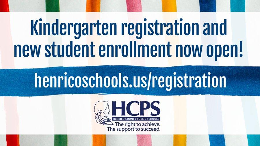 Kindergarten and New Student Registration is Open