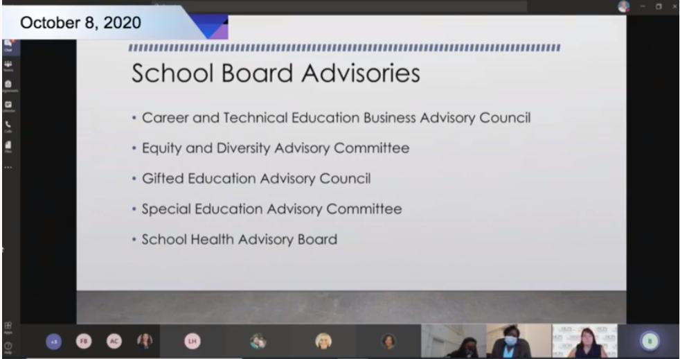 School Board Advisories slide