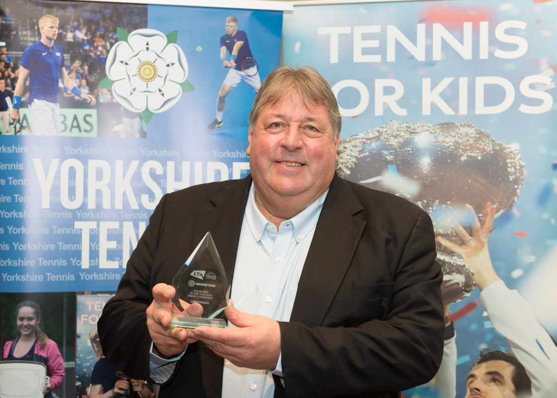 Chris French at the Yorkshire Tennis Awards 2019