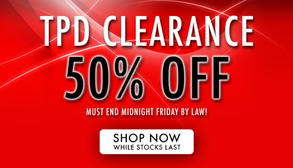 TPD Clearance - 50% OFF Discontinued eLiquid