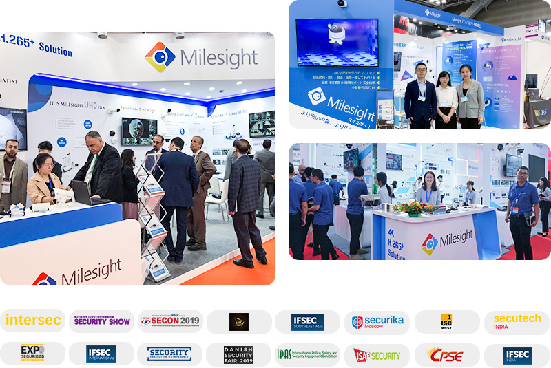 Milesight attended various worldwide and regional exhibitions in 2019