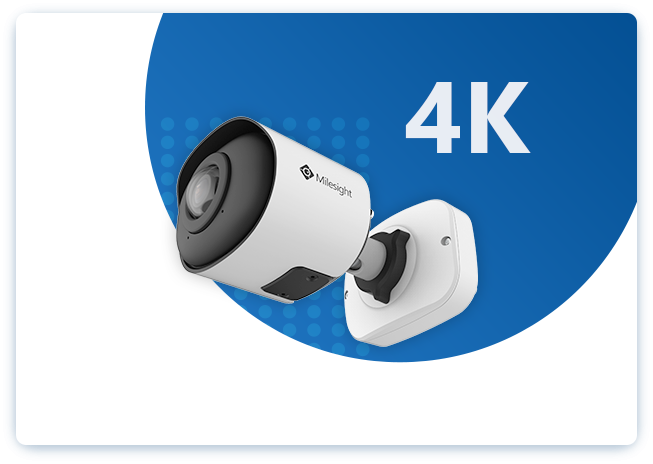 Milesight 4K 180° Panoramic Mini  Bullet NetworK Camera