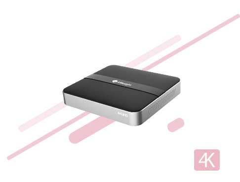 The 4K 4 CHs Mini PoE NVR