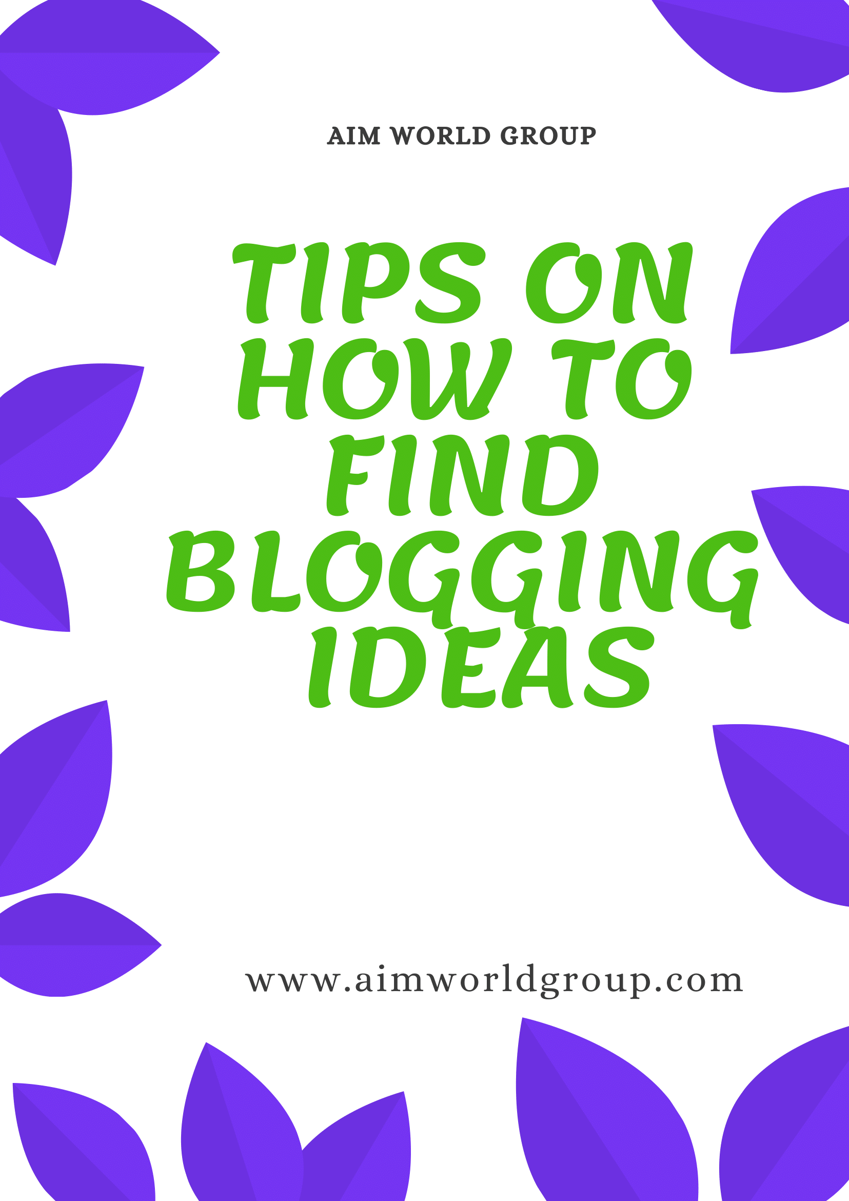 how to find blogging ideas