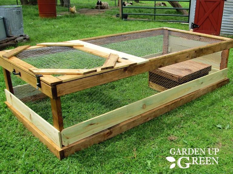 The Backyard Mobile Quail Coop