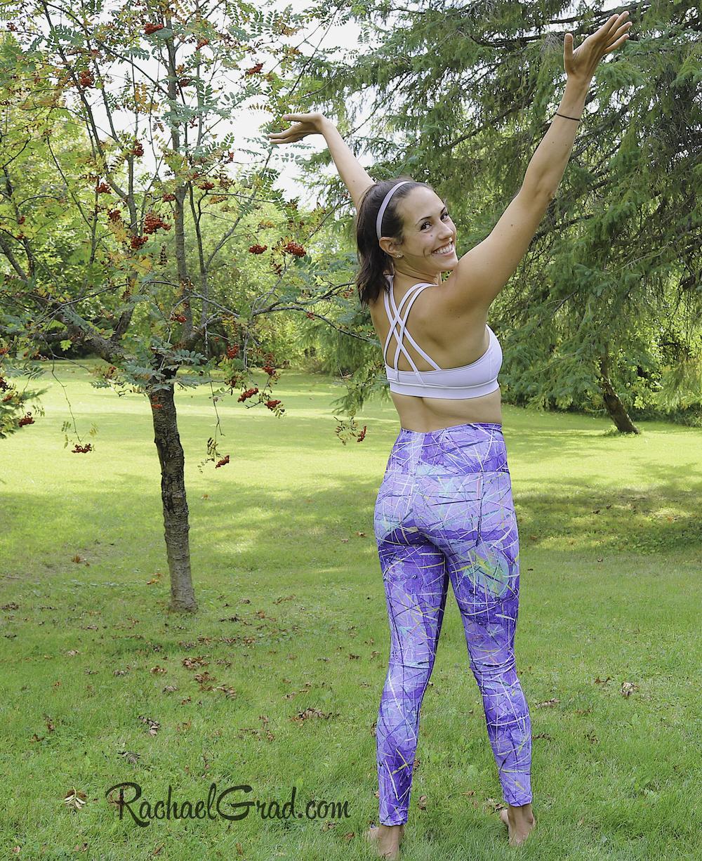 Purple Art Leggings by Artist Rachael Grad