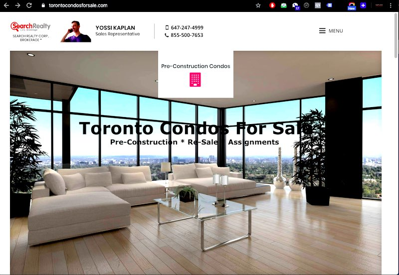 TorontoCondosForSale.com - Find any Platinum VIP Condo For Sale in Toronto by Yossi Kaplan, MBA