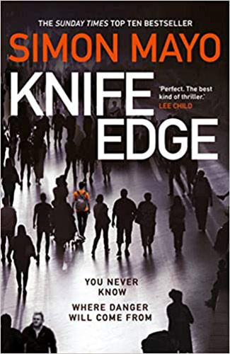 Image shows the cover of Knife Edge by Simon Mayo