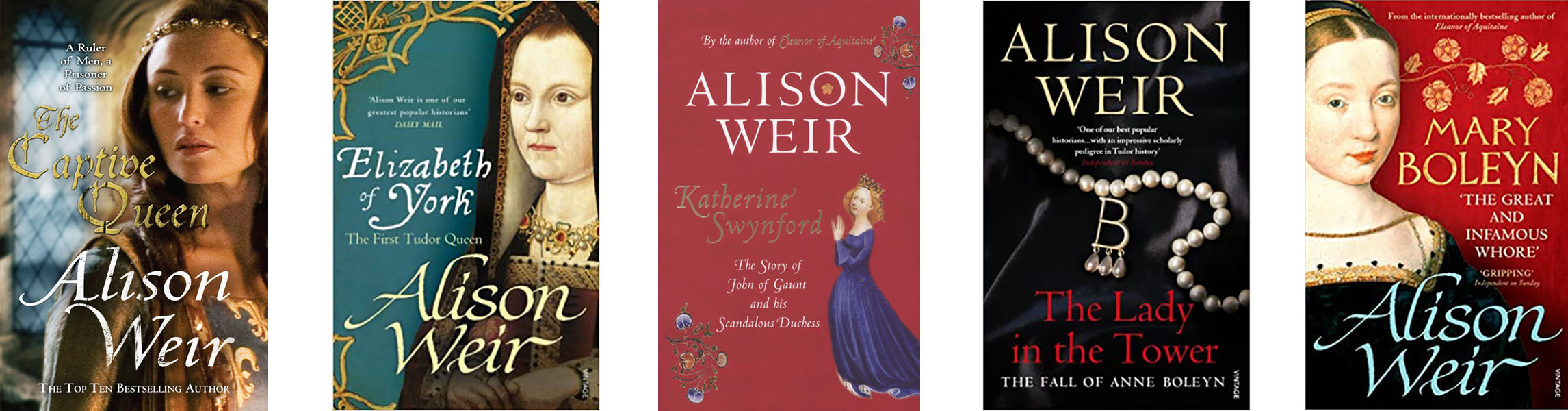 Image shows covers by Alison Weir