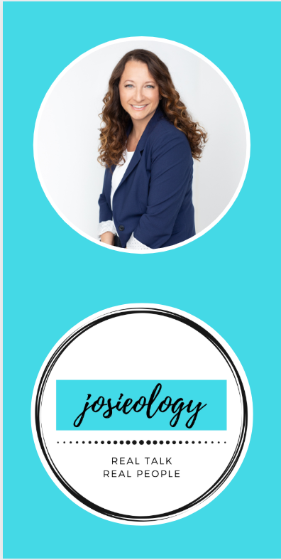 Josieology Podcast Host and Logo