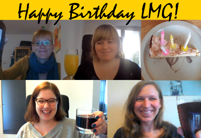 Board members celebrate the LMG bday