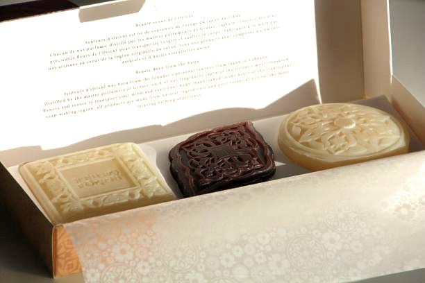 Coffrets 3 savons fabriqués artisanalement au Liban - senteurs d'orient