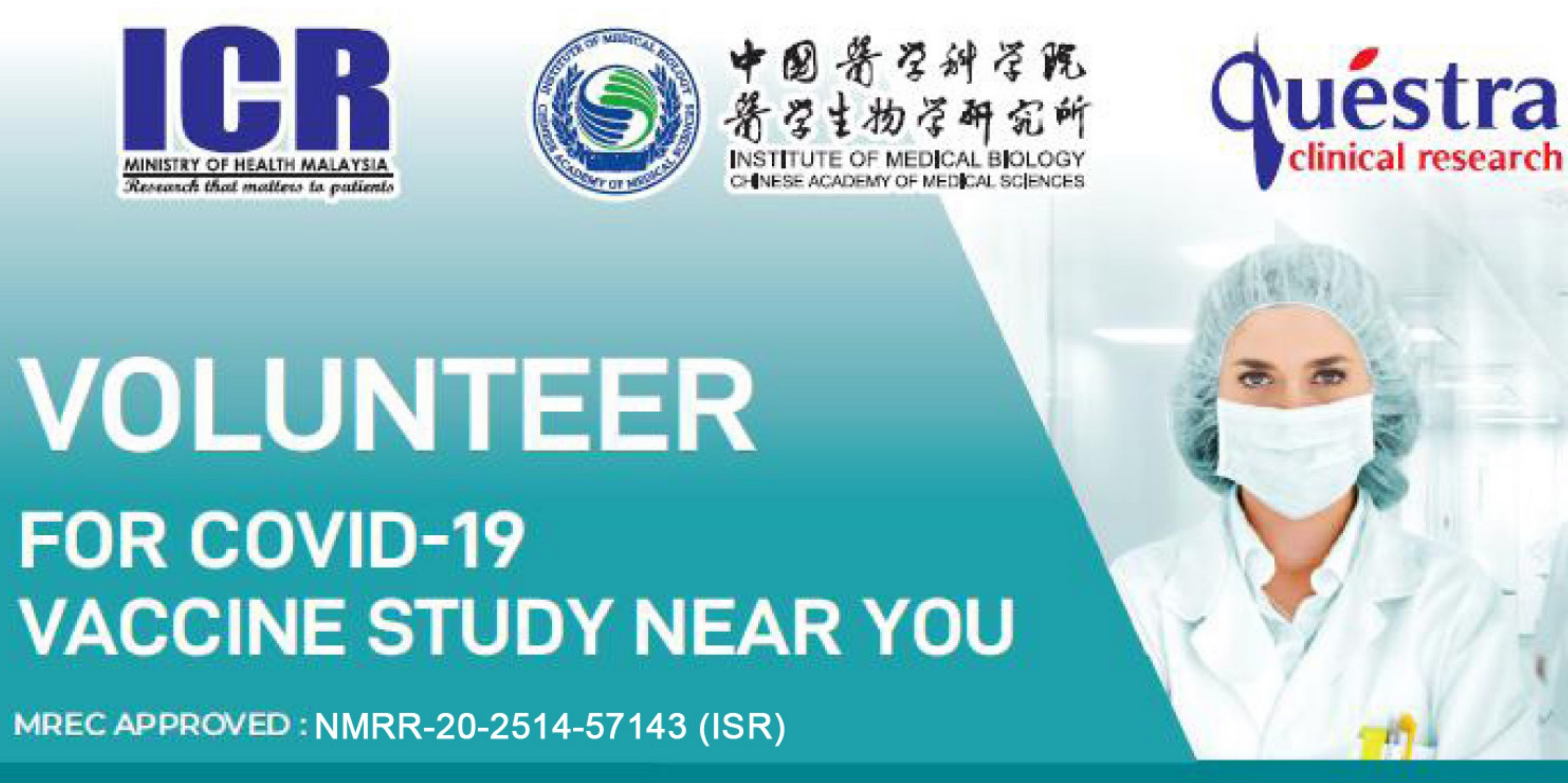 Volunteers for the COVID-19 vaccine study in Malaysia
