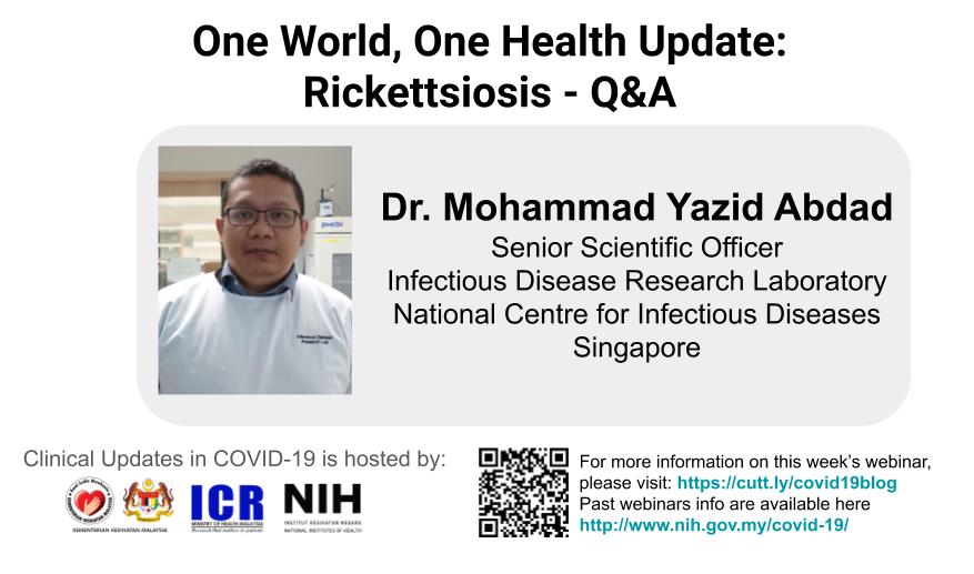 Q&A with Dr. Mohammad Yazid Abdad on Rickettsiosis