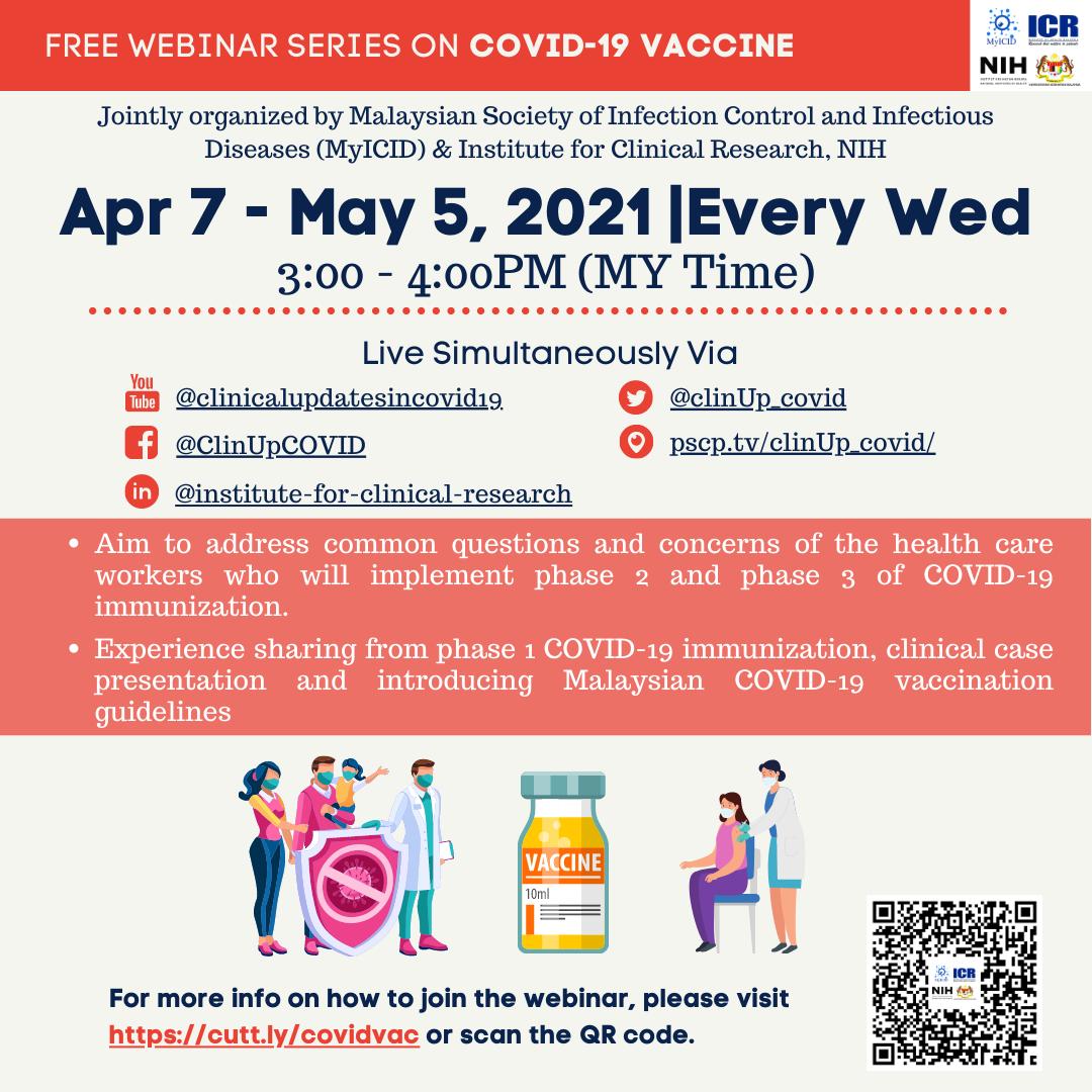 Free webinar series on COVID-19 vaccine