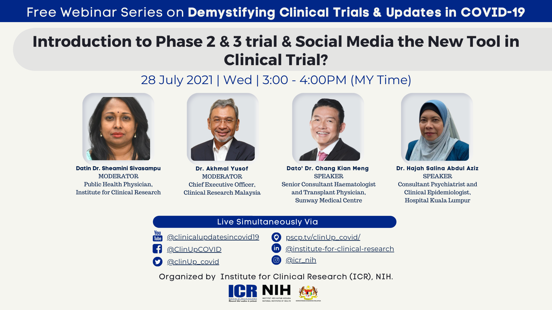 Introduction to Phase 2 & 3 trial & Social Media the New Tool in Clinical Trial?