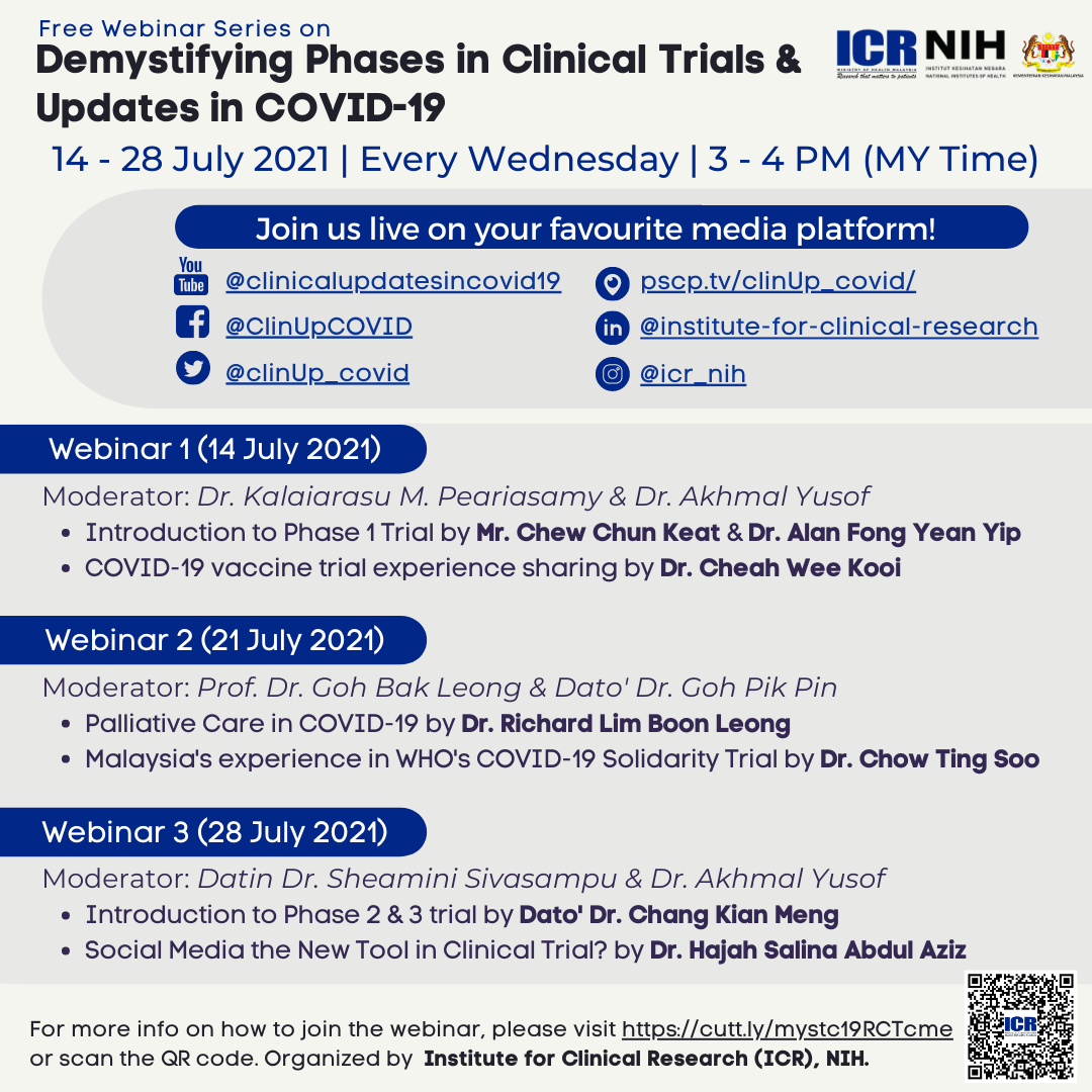 Webinar Series on Demystifying Phases in Clinical Trials & COVID-19 Updates