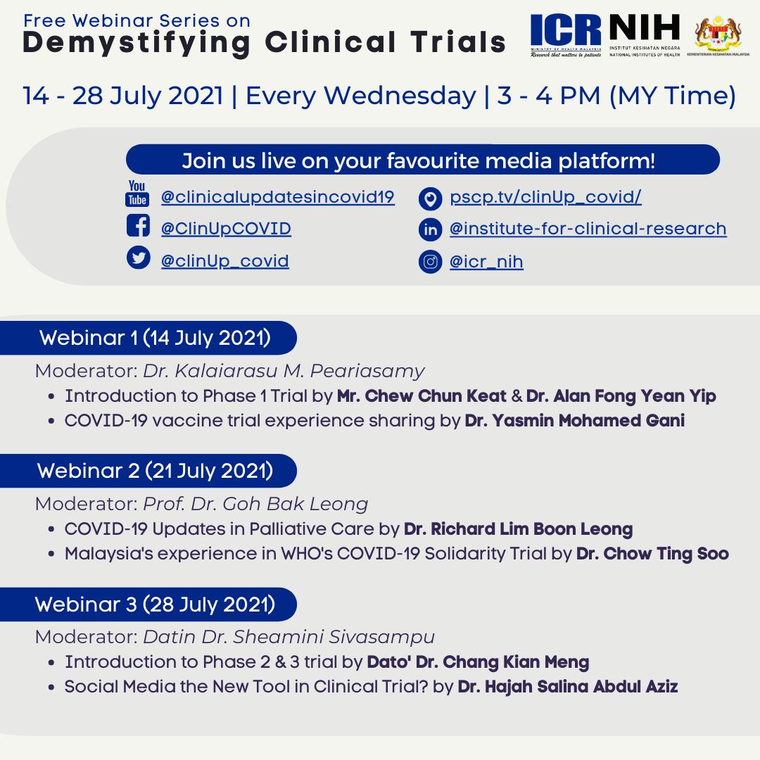 Webinar Series on Demystifying Clinical Trials