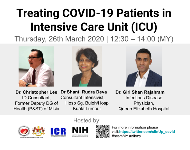 Webinar 02 - Treating COVID-19 Patients in Intensive Care Unit (ICU)
