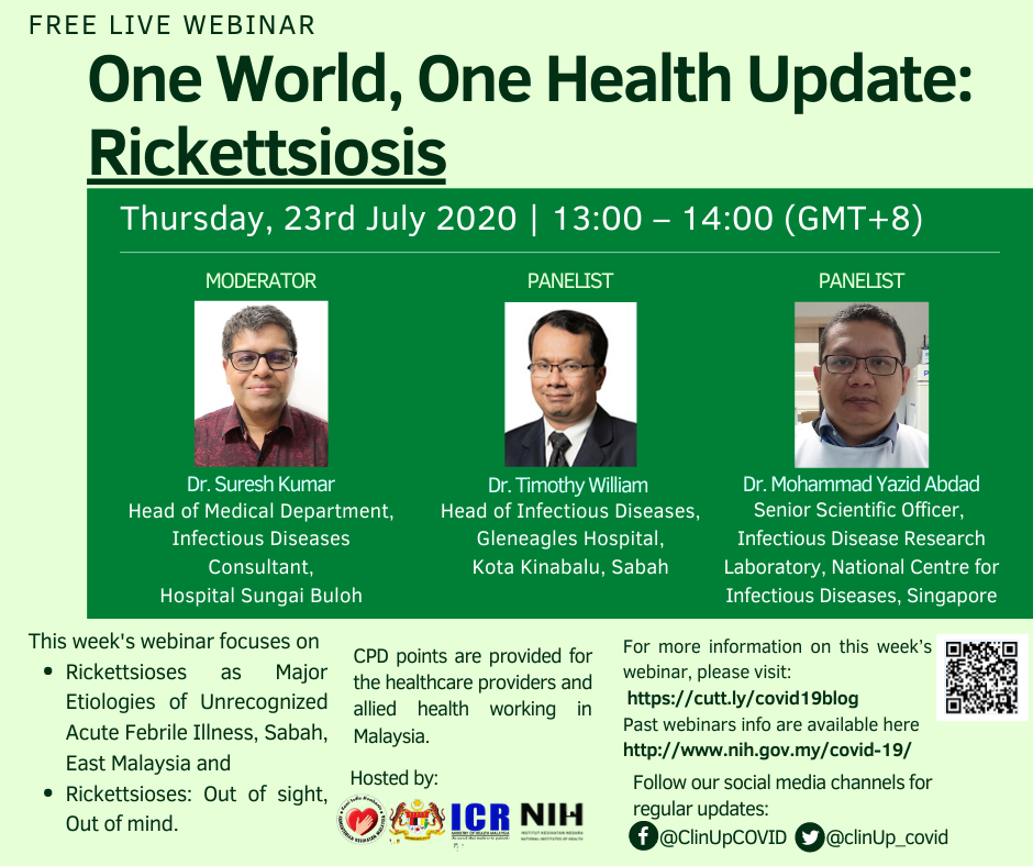 One World, One Health Update: Rickettsiosis