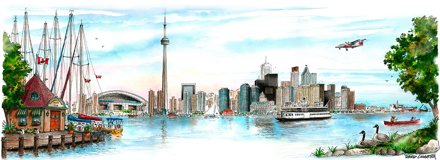 Toronto Skyline | Totally Toronto Art