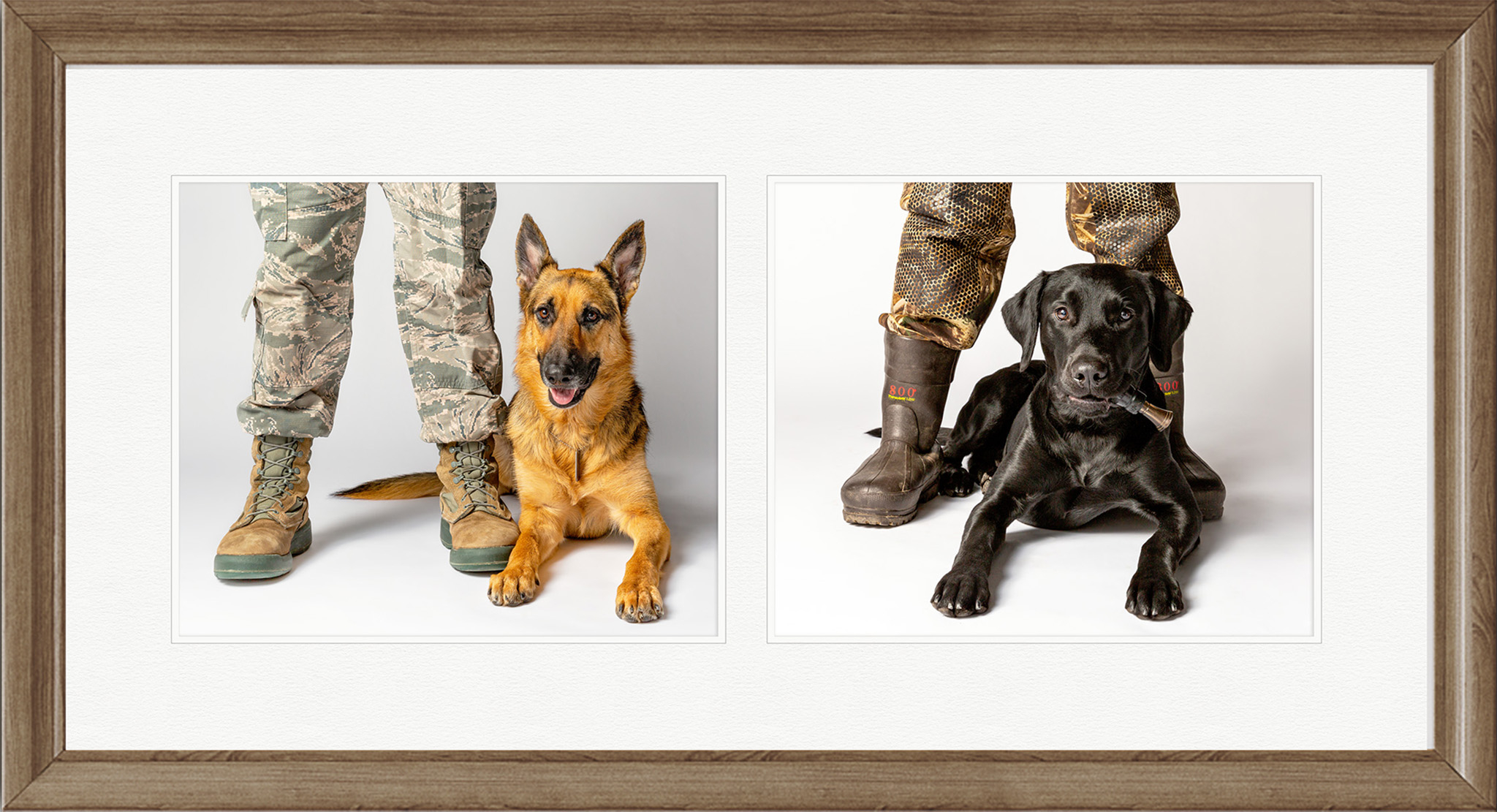 Pawsitivity 10x20 two image framed print