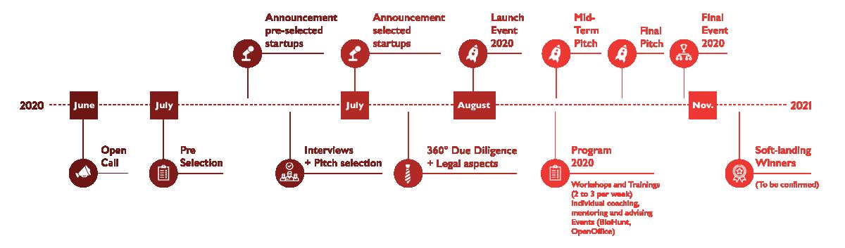GaneshaLab Program 2020 Timeline