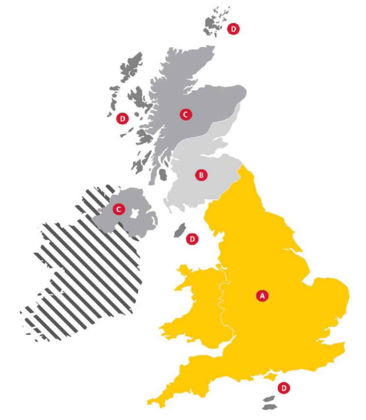 DHL Zone Map